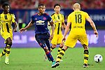 Manchester United winger Antonio Valencia (c) looks to bring the ball during the International Champions Cup China 2016, match between Manchester United vs Borussia  Dortmund on 22 July 2016 held at the Shanghai Stadium in Shanghai, China. Photo by Marcio Machado / Power Sport Images