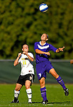 31 August 2007: University of Central Arkansas Sugar Bears' Brittney Warren (7), a Freshman from Cedar Park, Texas, battles Rachel Andres (11), a Sophomore from Honeoye, NY, during game action against the University of Vermont Catamounts at Historic Centennial Field in Burlington, Vermont. The Catamounts defeated the Sugar Bears 1-0 during the TD Banknorth Soccer Classic...Mandatory Photo Credit: Ed Wolfstein Photo