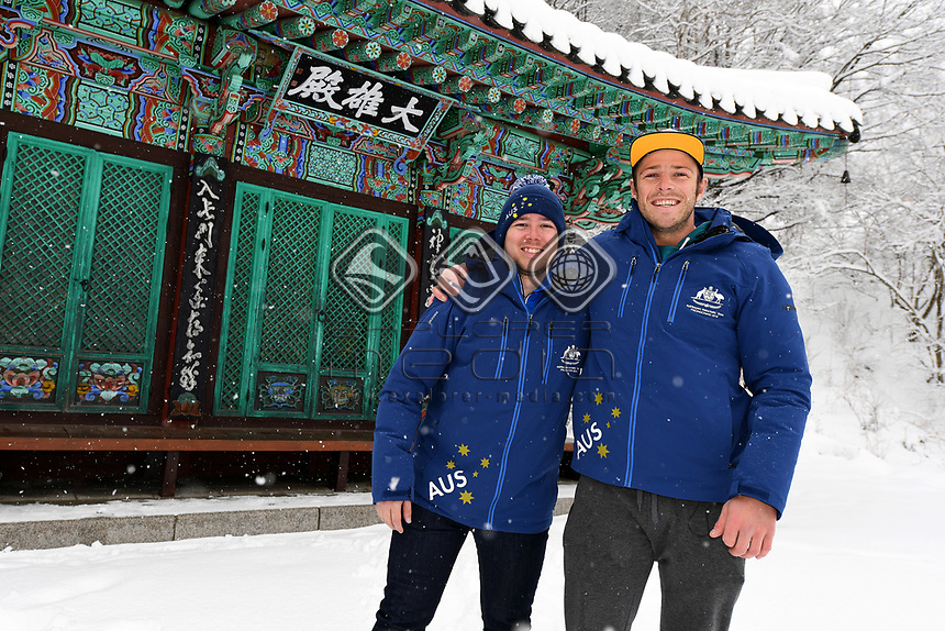 Para - Portraits / Skier Shaun Pianti w/guide Jeremy O'Sullivan <br /> PyeongChang 2018 Paralympic Games<br /> Australian Paralympic Committee<br /> PyeongChang South Korea<br /> Thursday March 8th 2018<br /> &copy; Sport the library / Jeff Crow