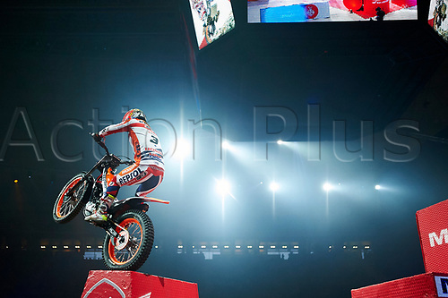 4th February 2018, Palau Sant Jordi, Barcelona, Spain; FIM X-Trial World Championship in Barcelona; Takahisa Fujinami of the Montesa Team during the first lap