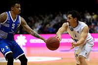 GRONINGEN - Basketbal, Donar - Landstede Zwolle , Martiniplaza,  halve finale beker, seizoen 2017-2018, 13-02-2018,  Donar speler Sean Cunningham in duel met Landstede speler Sherron Dorsey-Walker