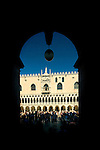 Framed view of the Doges Palace, Venice, Italy