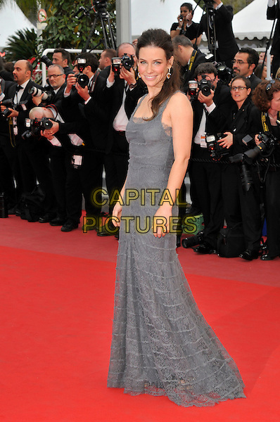 EVANGELINE LILLY.'La Princesse de Montpensier' premiere at the 63rd International Cannes Film Festival, Cannes, France, .16th May 2010..full length dress sleeveless  grey gray lace long maxi dress .CAP/PL.©Phil Loftus/Capital Pictures.