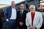 BERLIN, 8.9.2016. Magbit Summer Event 2016 des Keren Hayesod. V.l.: Nathan Gelbart, SE Botschafter des Staates Israel Yakov hadas-Handeslman, Henryk M. Broder