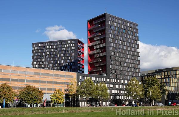 Sciencce Park Utrecht. Studentenflats met balkon.  Foto Berlinda van Dam / Hollandse Hoogte