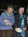 Sr Bernadette O'Neill and Patricia Byrne pictured in the Medical Missionary of Mary auditorium for the presentation to Fr Emlyn McGinn. Photo:Colin Bell/pressphotos.ie