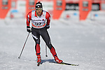 Mirco Bertolina in action at the sprint qualification of the FIS Cross Country Ski World Cup  in Dobbiaco, Toblach, on January 14, 2017. Credit: Pierre Teyssot