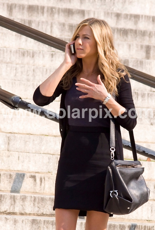 "**ALL ROUND PICTURES FROM SOLARPIX.COM**.**SYNDICATION RIGHTS FOR UK, AUSTRALIA, DENMARK, PORTUGAL, S. AFRICA, SPAIN & DUBAI (U.A.E) ONLY**.Jennifer Aniston filming ""The Bounty"" at a Courthouse in New York City, USA. 4 August 2009..This pic: Jennifer Aniston..JOB REF: 9693 PHZ (Mayer)   DATE: 04_08_2009.**MUST CREDIT SOLARPIX.COM OR DOUBLE FEE WILL BE CHARGED**.**MUST NOTIFY SOLARPIX OF ONLINE USAGE**.**CALL US ON: +34 952 811 768 or LOW RATE FROM UK 0844 617 7637**"