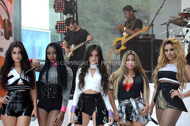 WWW.ACEPIXS.COM<br /> July 10, 2015 New York City<br /> <br /> Lauren Jauregui,Normani Hamilton, Camila Cabello,Ally Brooke and Dinah Hansen of Fifth Harmony performing in Concert on NBC's 'Today' at Rockefeller Plaza on July 10, 2015 in New York City.<br /> <br /> Credit: Kristin Callahan/ACE Pictures<br /> Tel: (646) 769 0430<br /> e-mail: info@acepixs.com<br /> web: http://www.acepixs.com