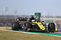 1st November 2019; Circuit of the Americas, Austin, Texas, United States of America; Formula 1 United Sates Grand Prix, practice day; Renault Sport F1 Team, Daniel Ricciardo - Editorial Use