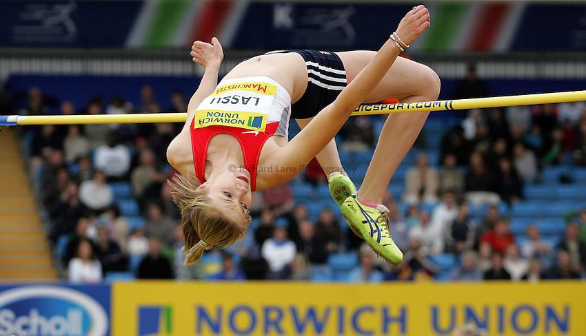 Photo: Paul Thomas/Richard Lane Photography..Norwich Union World Trials and AAA Championships. 28/07/2007...Adele Lassu during the women's high jump.