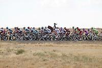 The peloton near an amazon on her horse during the stage of La Vuelta 2012 beetwen Penafiel-La Lastrilla.September 7,2012. (ALTERPHOTOS/Paola Otero) /NortePhoto.com<br /> <br /> **CREDITO*OBLIGATORIO** *No*Venta*A*Terceros*<br /> *No*Sale*So*third* ***No*Se*Permite*Hacer Archivo***No*Sale*So*third