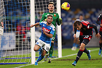 Dries Mertens of Napoli and Ionut Radu of Genoa <br /> Napoli 09-11-2019 Stadio San Paolo <br /> Football Serie A 2019/2020 <br /> SSC Napoli - Genoa CFC<br /> Photo Cesare Purini / Insidefoto