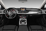 Stock photo of straight dashboard view of 2016 Audi A6 - 4 Door Sedan Dashboard