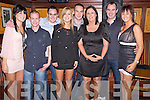 Natalie Carroll, Liam Fenton, Joe Flannery, Lisa Kelliher, Samuel O'Brien, Barbara Noonan, Colin Murray and Eimear Cronin for the New Year's Eve celebrations in Scruffys Bar, Killarney on Friday night.