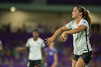 Orlando, FL - Saturday August 12, 2017: Sky Blue FC player during a regular season National Women's Soccer League (NWSL) match between the Orlando Pride and Sky Blue FC at Orlando City Stadium.