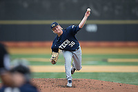 Georgia Tech Yellow Jackets starting pitcher Jay Shadday (36) in action against the Wake Forest Demon Deacons at David F. Couch Ballpark on March 26, 2017 in  Winston-Salem, North Carolina.  The Demon Deacons defeated the Yellow Jackets 8-4.  (Brian Westerholt/Four Seam Images)
