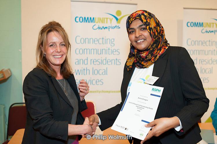 Award winner, Tri-Borough Community Champions Conference, 20/11/13.