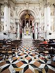 Altar, Stone floors, Basilica di Santa Maria della Salute, Venice, Italy