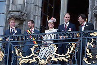 Kate, Duchess of Cambridge, Prince William, Prince Harry in Mons City Hall - Belgium