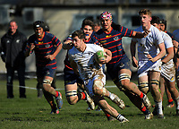 Action from the Super 8 1st XV rugby match between Palmerston North Boys' High School and Rotorua Boys' High School at PNBHS in Palmerston North, New Zealand on Saturday, 29 July 2017. Photo: Dave Lintott / lintottphoto.co.nz