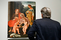 Artworks stolen during the earthquake of 2016, Madonna with St Giovannino, stolen from amatrice<br /> Rome May 3rd 2019. Quirinale Palace. Preview of the exhibition 'The art of rescuing art' , a collection of antique artworks, paintings, statues, jewelry and terracotta artefacts rescued from the command of Carabinieri for the protection of the cultural heritage in 50 years.  Many of these artworks were stolen on commission for private collections.<br /> Photo di Samantha Zucchi/Insidefoto