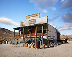 The Remnant Of A Bygone Era, Sunny Skies Over A Dilapidated Building At Rhyolite Nevada, An Abandoned Town Near Death Valley, USA