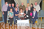 CHEQUE PRESENTATION: Breda Collins and member's of the Maurice Collins Vintage Rally committee presenting Pat Ryle and Steve Barker of the Banna in-shore resurce a cheque with monies raised from the Maurice Collins Vintage Rally at the Ballyroe Heights hotel, Tralee on Saturday seated l-r: Kathleen McCarthy, Pat Ryle, Breda Collins, Steve Barker and Noreen Collins. Back Ger McCarthy, Gerard McCarthy, Pa Riordan, Tony Hehir, Johnny Egan, Claire O'Loughlin, Margaret Raggett and Ned Murphy.