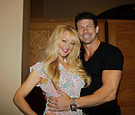 """Days Charlotte Ross """"Eve Donovan"""" & Dallas, Glee and Nashville) &  Paul Logan (Days """"Glen Reiber"""") attended Chiller Theatre Spring Extravaganza was held on April 27, 2014 at the Parsippany Sheraton Hotel in Parsippany, New Jersey.  (Photo by Sue Coflin/Max Photos)"""
