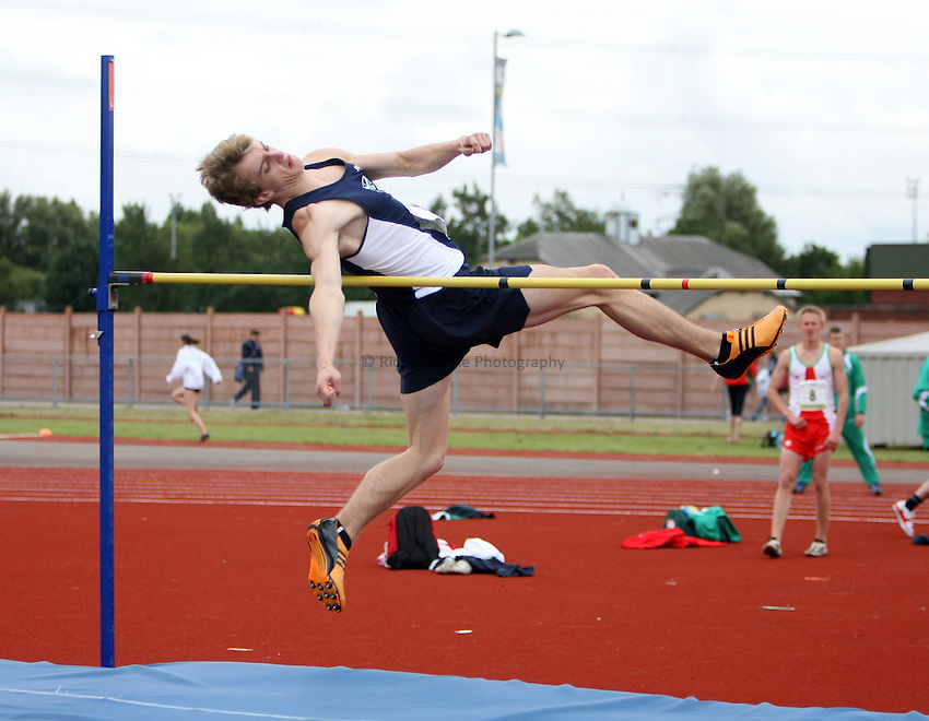 Photo: Rich Eaton...Schools International Athletic Board, Track & Field International Match, Newport. 21/07/2007. Malcolm McKenzie of Scotland competes in the boys high jump.