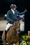 Jamie Kermond of Australia riding Yandoo Oaks Constellation competes in the Longines Grand Prix during the Longines Masters of Hong Kong at AsiaWorld-Expo on 11 February 2018, in Hong Kong, Hong Kong. Photo by Ian Walton / Power Sport Images