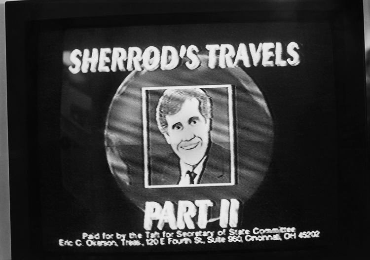 Secretary of State, Sherrod Brown, D-Ohio, advertisement broadcasted on television while campaigning. (Photo by CQ Roll Call via Getty Images)