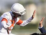 November 2, 2019: Mitole, ridden by Ricardo Santana Jr., wins the Breeders' Cup Sprint on Breeders' Cup World Championship Saturday at Santa Anita Park on November 2, 2019: in Arcadia, California. Carolyn Simancik/Eclipse Sportswire/CSM