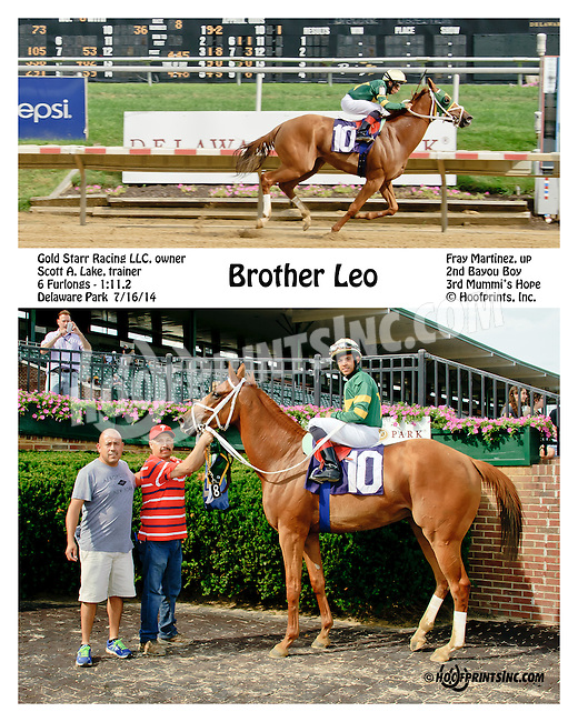 Brother Leo winning at Delaware Park on 7/16/14