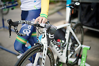 Simon Gerrans' (AUS/Orica-GreenEDGE) newest bike is ready to race<br /> <br /> Tour de France 2014