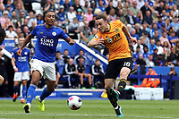 Diogo Jota of Wolverhampton Wanderers gets in a shot during Leicester City vs Wolverhampton Wanderers, Premier League Football at the King Power Stadium on 11th August 2019