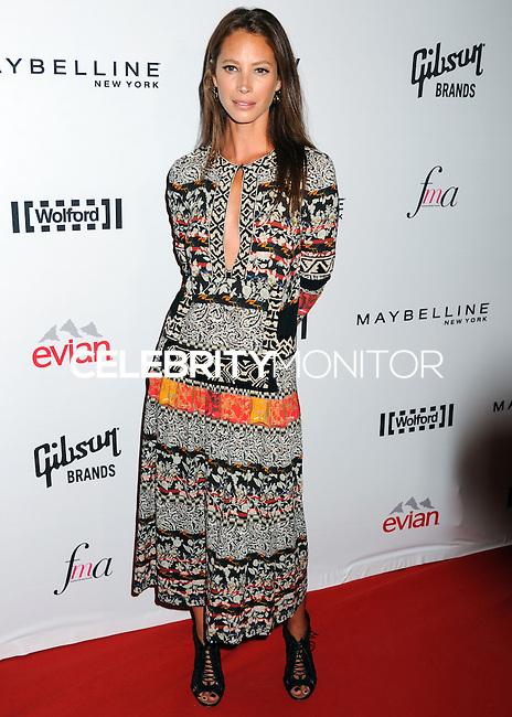 NEW YORK CITY, NY, USA - SEPTEMBER 05: Christy Turlington arrives at the 2nd Annual Fashion Media Awards held at the Park Hyatt on September 5, 2014 in New York City, New York, United States. (Photo by Celebrity Monitor)