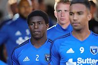 San Jose, CA - Saturday May 27, 2017: Kofi Sarkodie during a Major League Soccer (MLS) match between the San Jose Earthquakes and the Los Angeles Galaxy at Avaya Stadium.