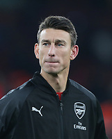 Arsenal's Laurent Koscielny<br /> <br /> Photographer Rob Newell/CameraSport<br /> <br /> UEFA Europa League Group E - Arsenal v FK Qarabag - Thursday 13th December 2018 - Emirates Stadium - London<br />  <br /> World Copyright &copy; 2018 CameraSport. All rights reserved. 43 Linden Ave. Countesthorpe. Leicester. England. LE8 5PG - Tel: +44 (0) 116 277 4147 - admin@camerasport.com - www.camerasport.com