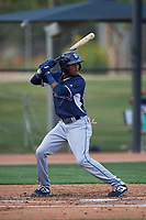AZL Padres 2 Yeison Santana (1) at bat during an Arizona League game against the AZL White Sox on June 29, 2019 at Camelback Ranch in Glendale, Arizona. The AZL Padres 2 defeated the AZL White Sox 7-3. (Zachary Lucy/Four Seam Images)