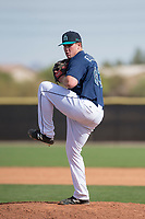 Seattle Mariners relief pitcher Seth Elledge (83) during a Minor League Spring Training game against the San Diego Padres at Peoria Sports Complex on March 24, 2018 in Peoria, Arizona. (Zachary Lucy/Four Seam Images)