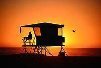 Lifeguard on Duty Huntington Beach California