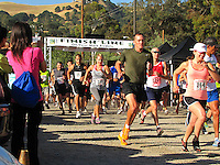 The out and back Hook and Ladder run starts where it will finish, at the Wente Winery in Livermore, CA.  The run  supports injured and fallen Firefighters, Burn Foundation and Local Charities in the Tri Valley .