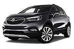 Stock pictures of low aggressive front three quarter view of 2017 Opel Mokka-X Innovation 5 Door SUV Low Aggressive
