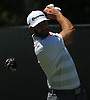 Dustin Johnson hits off the tee on the 4th Hole during the first round of the U.S. Open Championship at Shinnecock Hills Golf Club in Southampton on Thursday, June 14, 2018.