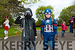 Enjoying the Fancy Dress fun Run in the park on Saturday were Aaron McElligott and Ryan Nix