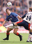 Rino Gattuso keeps his eye on the ball, Rangers season 1997