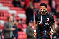 Lincoln City's Bruno Andrade during the pre-match warm-up<br /> <br /> Photographer Chris Vaughan/CameraSport<br /> <br /> The EFL Sky Bet League One - Lincoln City v Sunderland - Saturday 5th October 2019 - Sincil Bank - Lincoln<br /> <br /> World Copyright © 2019 CameraSport. All rights reserved. 43 Linden Ave. Countesthorpe. Leicester. England. LE8 5PG - Tel: +44 (0) 116 277 4147 - admin@camerasport.com - www.camerasport.com
