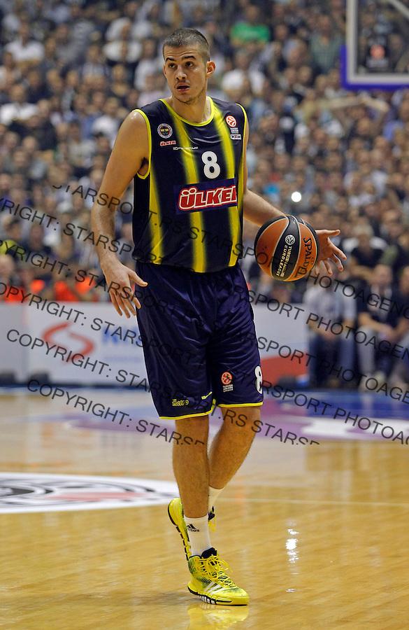 Nemanja Bjelica during Euroleague Group A basketball match between Partizan NIS and Fenerbahce Ulker Istanbul in Pionir Arena in Belgrade, Serbia on Friday November 8. 2013. (credit: Pedja Milosavljevic  / thepedja@gmail.com / +381641260959)