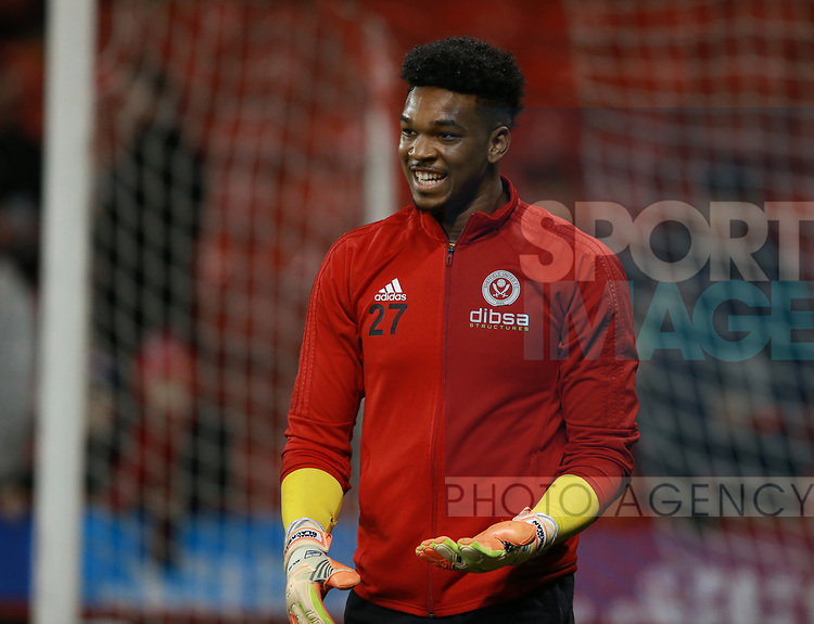 Jamal Blackman of Sheffield Utd during the Championship match at Bramall Lane Stadium, Sheffield. Picture date 21st November 2017. Picture credit should read: Simon Bellis/Sportimage